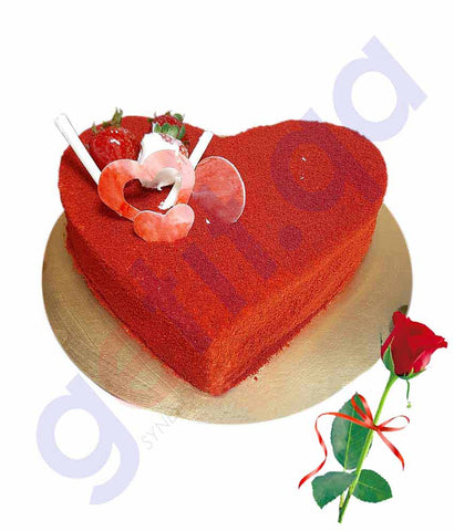 Buy Valentine Day Cake Red Rose Price Online in Doha Qatar