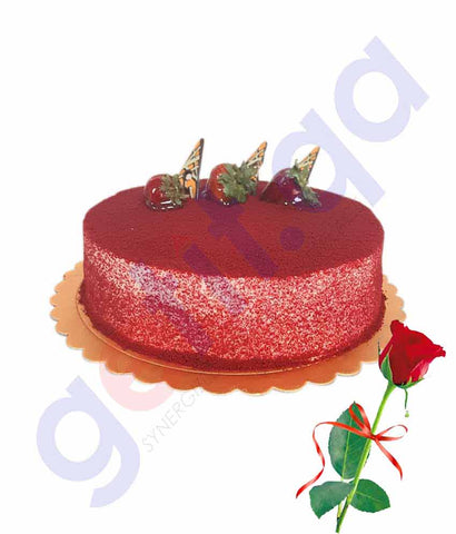 Buy Valentine Day Cake with Red Rose Price Online Doha Qatar