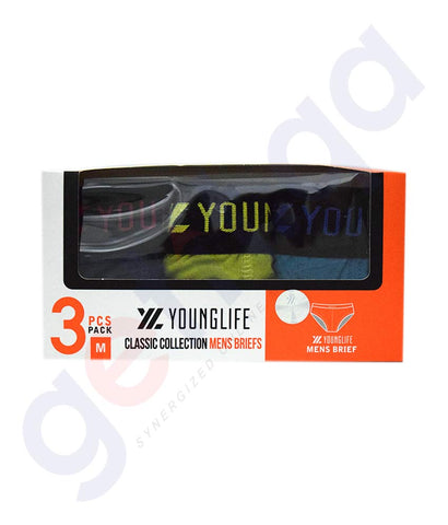 Buy Younglife Classic Collection Mens Brief 3pcs Doha Qatar