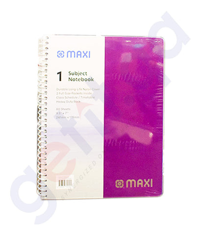 Buy Maxi Notebook 80 Sheets Price Online in Doha Qatar