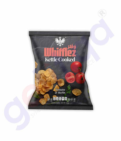 Buy Whifflez Kettle Chips Tomato & Herbs 150gm Doha Qatar