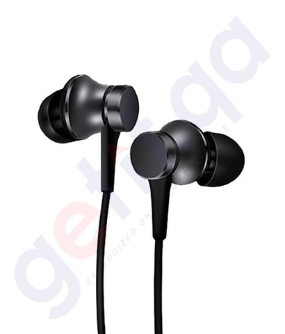 Buy Xiaomi In Ear Headphones Matte Black Price Online in Doha Qatar