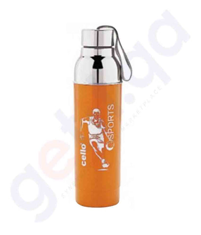 Buy Cello Water Bottle Ferro 900ml Orange Online in Doha Qatar