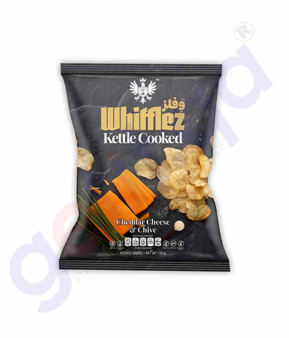 Buy Whifflez Kettle Chips Cheddar Cheese & Chive Doha Qatar