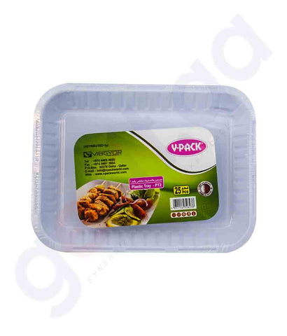 Buy V-Pack Square Plate Size No 2- 25pcs/Pkt in Doha Qatar