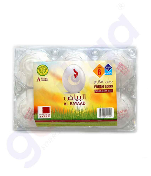 GETIT.QA | Buy Al Bayaad Fresh White Egg 6pcs Price Online Doha Qatar