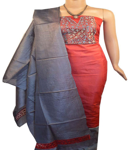 Buy Churidar Material Red Colour W/Cut 190100157 Doha Qatar