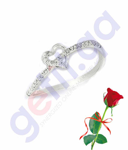 Buy Valentine Ring Shape Pendant with Rose Price in Qatar