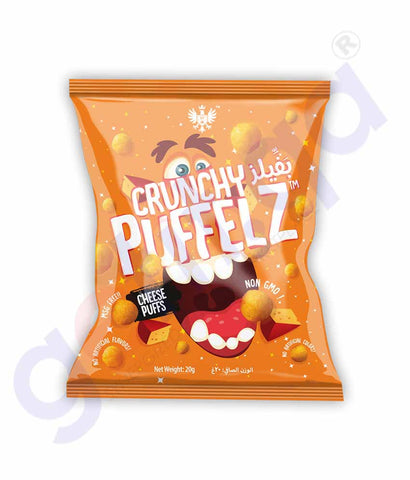 Buy Crunchy Puffelz Chips Cheese 20gm Online in Doha Qatar