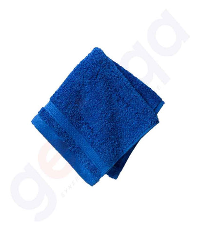 Buy Kingston Face Towel 33x33cm Micro Cotton Blue in Doha Qatar