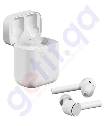 Buy Mi True Wireless Earphones White Online in Doha Qatar