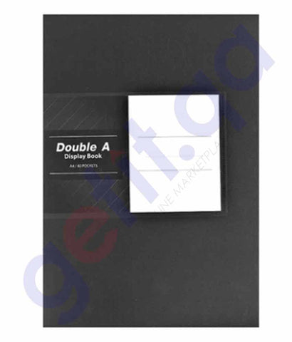DOUBLE A - A4 DISPLAY BOOK 20 POCKET - BLACK