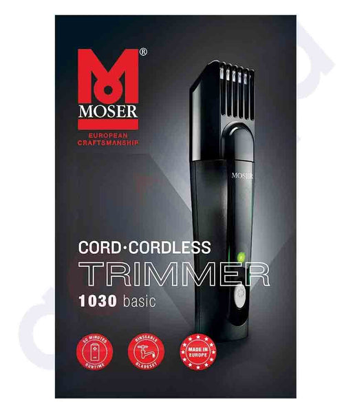 MOSER MOS10300410 BASIC RECHARGEABLE HAIR TRIMMER