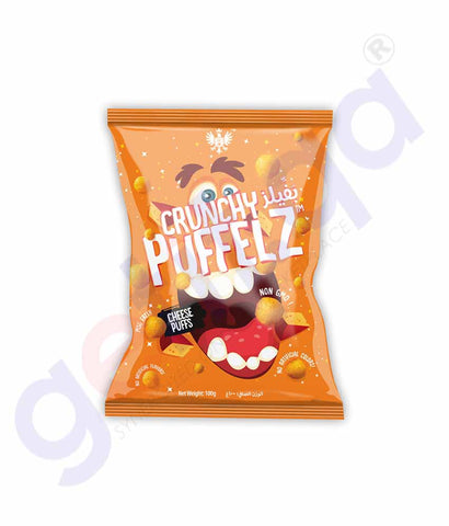 Buy Crunchy Puffelz Chips Cheese Puffs 100gm in Doha Qatar