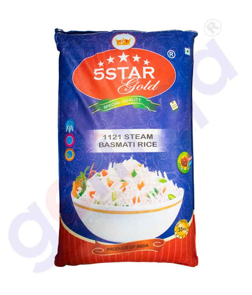 GETIT.QA | Buy 5-Star Gold 1121 Basmati Rice 35kg Online in Doha Qatar