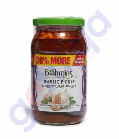BRAHMINS GARLIC PICKLE 300G BOTTLE