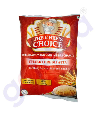 GETIT.QA | Buy The Chef's Choice Chakki Atta 5kg Online in Doha Qatar