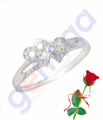 Buy Valentine Ring Pendant with Rose Price Online in Qatar