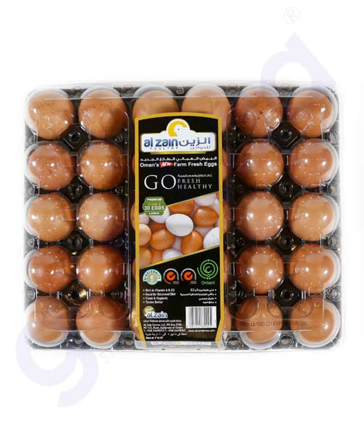 Buy Al Zain Fresh Brown Eggs 30pcs Online in Doha Qatar