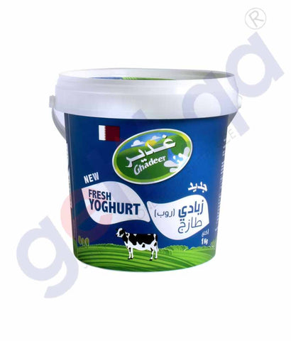 Buy Ghadeer Yoghurt Full Fat 1kg Price Online in Doha Qatar