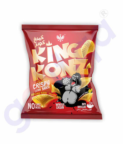 Buy King Konz Chips Crispy Corn Original 35g in Doha Qatar