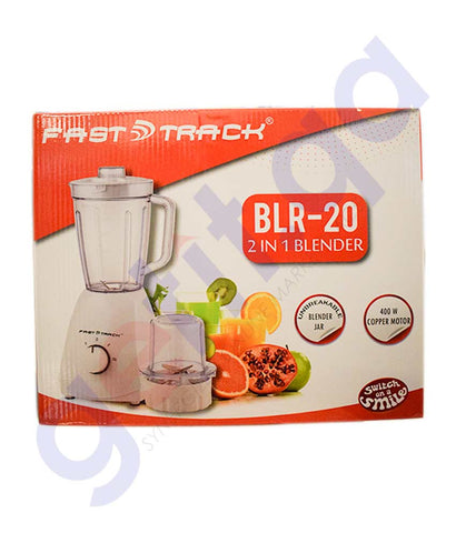 Buy Fast Track Blender 2-in-1 400W FT BLR 20 Doha Qatar