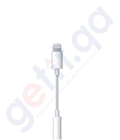 Buy Apple Lightening to 3.5m Jack Adaptor MMX62 Doha Qatar