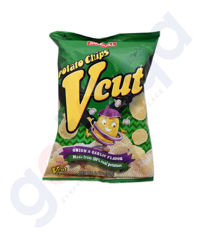 Buy Jack n Jill Vcut Potato Chips Onion Garlic Doha Qatar
