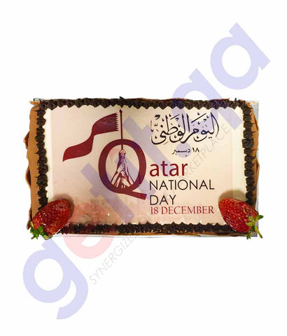 Buy Fondant Cake of Qatar Legend with Flag 1.5kg Doha Qatar