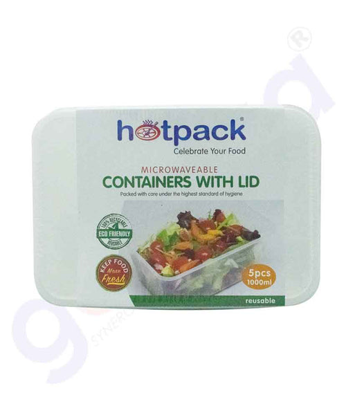 GETIT.QA| Buy Hotpack Microwaveable Container Lid 1000ml in Doha Qatar