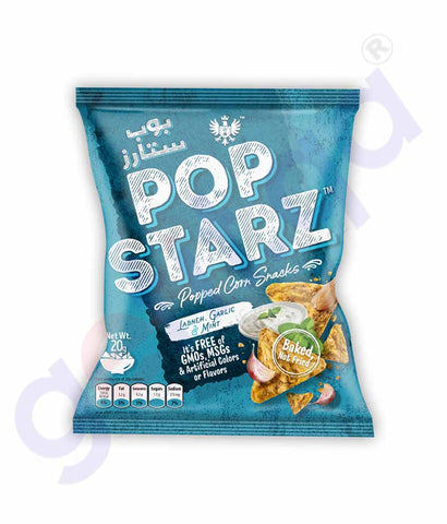 Buy Pop Starz Labneh, Garlic & Mint 20g Online Doha Qatar