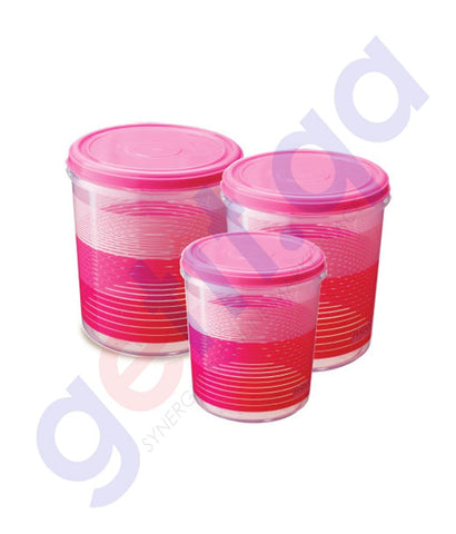 RATAN RUBY CONTAINER NO.1/2/3-3PCS SET