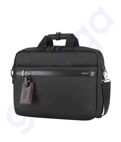 Buy American Tourister Nobleton Briefcase Black Doha Qatar