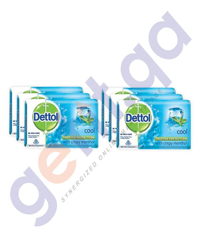 BUY BEST QUALITY DETTOL COOL SOAP 105GM 6 PCS ONLINE IN QATAR