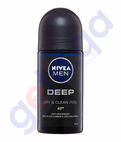 Buy Nivea Men Deep Dry & Clean Feel Deo 50ml in Doha Qatar