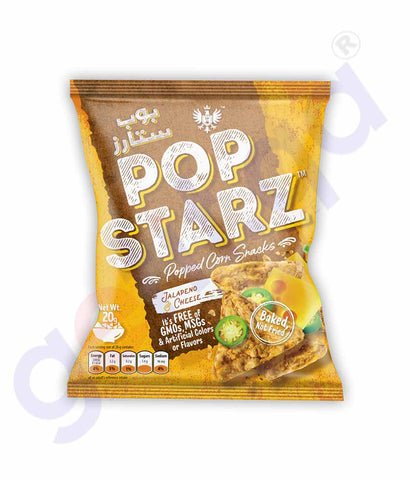 POP STARZ  JALAPENO & CHEESE CORN SNACKS 20G