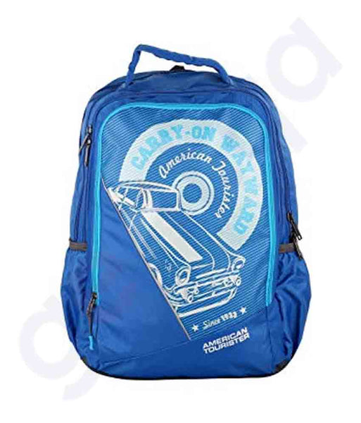 Buy American Tourister Pop II Backpack Blue in Doha Qatar