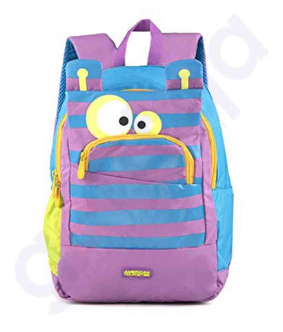 Buy American Tourister Woodle Nxt Backpack 03 Pur Monster in Doha Qatar