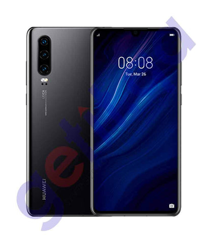 Shop Huawei P30 6gb RAM 128gb ROM Black Price Online in Doha Qatar