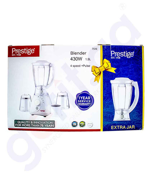 PRESTIGE BLENDER 1.5L + ONE JAR EXTRA FREE