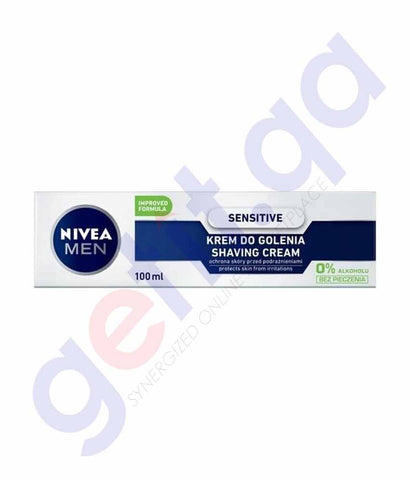 Buy Nivea Men Sensitive Shaving Cream 100ml in Doha Qatar