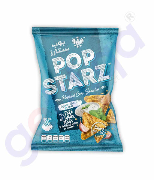 Buy Pop Starz Labneh, Garlic & Mint 100g Online Doha Qatar