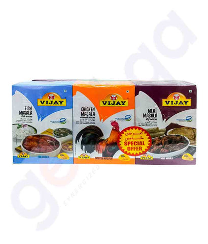 Buy Vijay Masala 3x200g Assorted Price Online in Doha Qatar