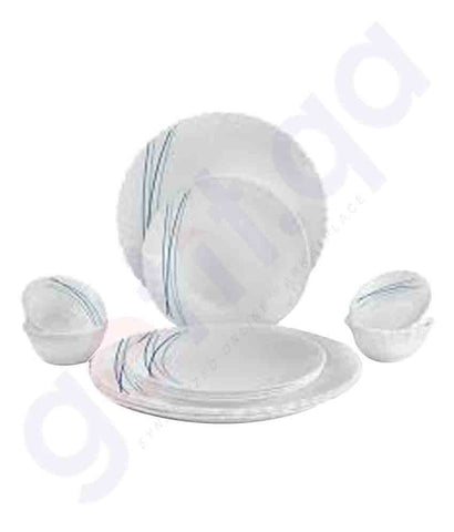 Buy Cello Dazzle Cool Lines 45Pc Dinner Set in Doha Qatar