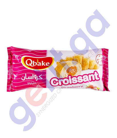Qbake Croissant Strawberry 60gm