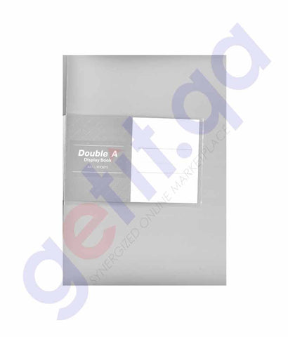 Buy Double A Display Book 40 Pockets Grey Online in Doha Qatar