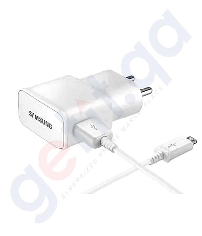 Buy Samsung Travel Adaptor Micro White Online in Doha Qatar