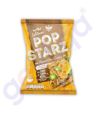 Buy Pop Starz Jalapeno & Cheese Corn Snacks 100g Doha Qatar