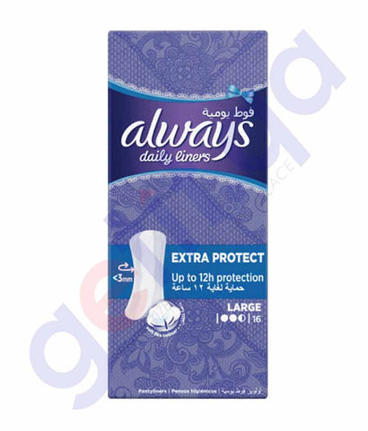Buy Always Daily Liners Comfort Protect Large 16 Count in Doha Qatar
