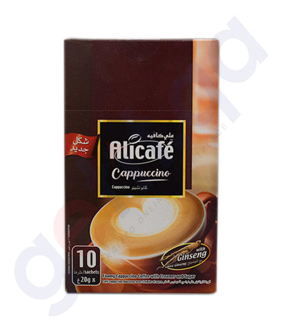 Buy Alicafe Cappuccino 10 Sachets 20g Online in Doha Qatar